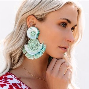 Vici Key West Beaded Fringe Earrings